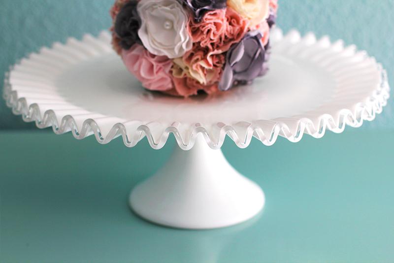 Silvercrest Milk Glass Cake Stand