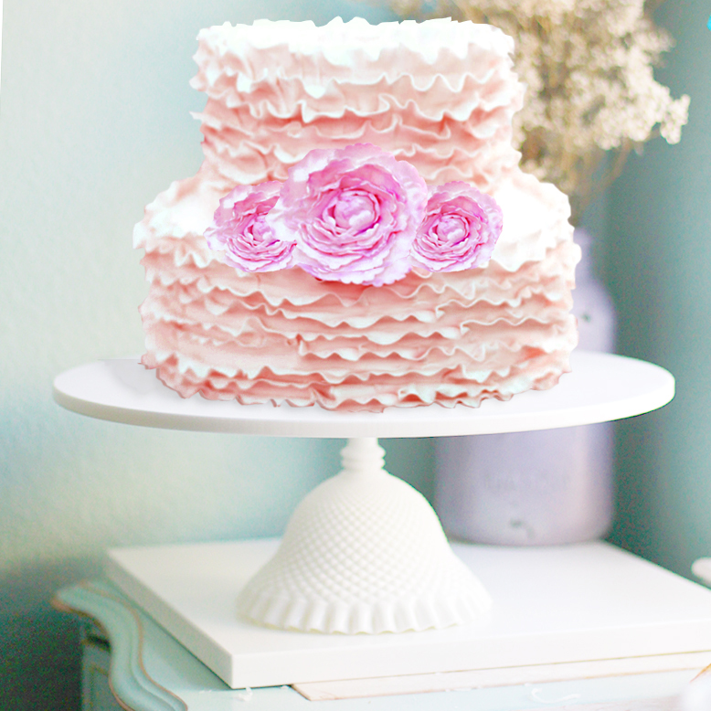 shabby chic cake stand