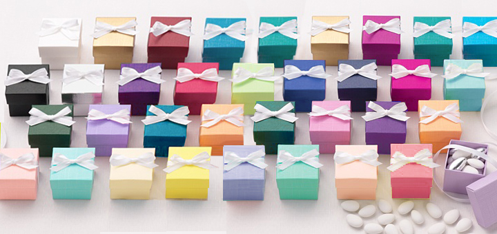 solid color favor boxes