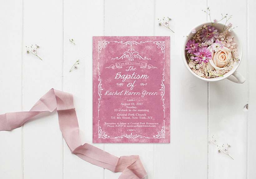 baptism or christening invitations