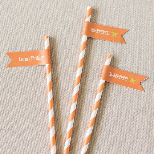 party supplies- straw flags or flag labels