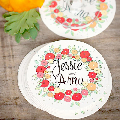 party supplies- personalized coasters