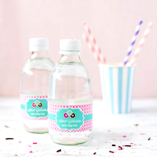 party supplies- water bottle labels & tags
