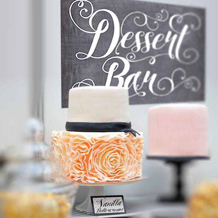 dessert table signage