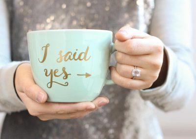engagement mug - i said yes