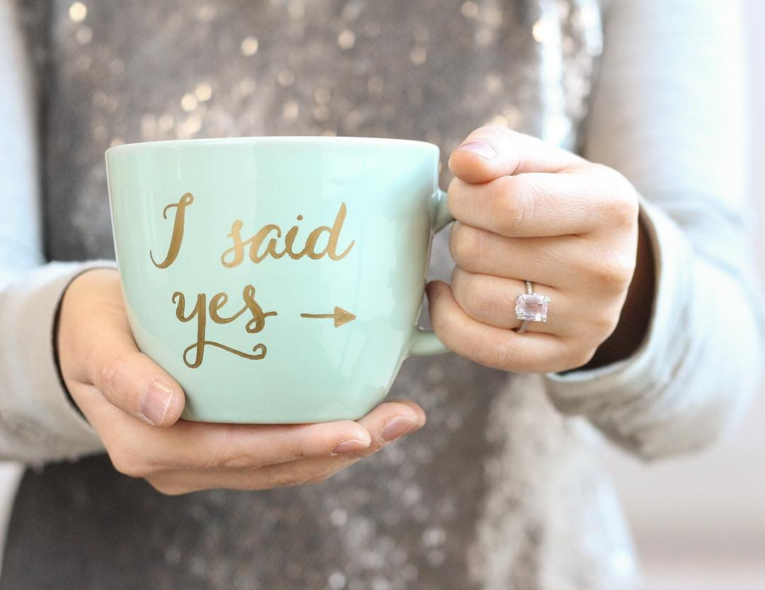 Creative Engagement Announcements Cup I Said Yes