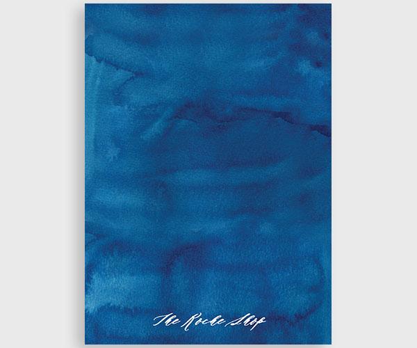 The Sara - Indigo Blue Watercolor Rehearsal Dinner Invitation