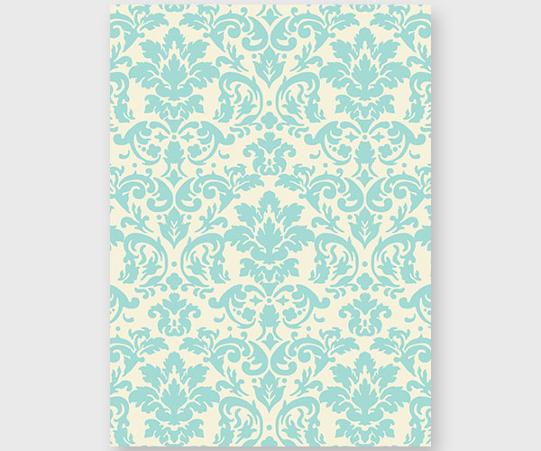 Tiffany Blue Damask Rehearsal Dinner Invitation