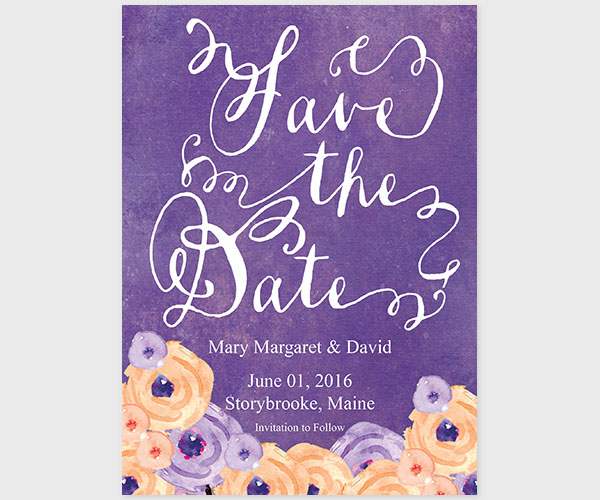 THE MARY MARGARET - Violet Bohemian save the date cards
