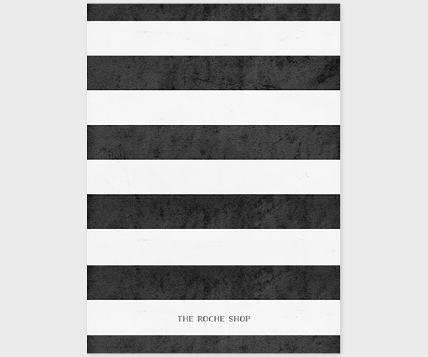 The Vivienne – Black and White Stripe Wedding Announcement or Elopement Card