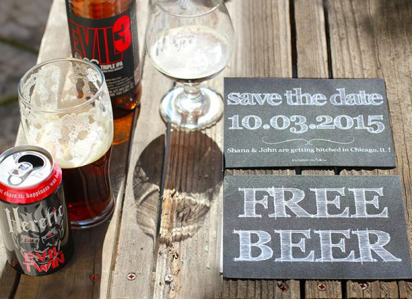 The Lagertha - Free Beer Save The Date Cards