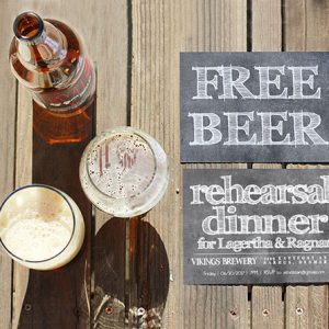 Free Beer Rehearsal Dinner Invitations