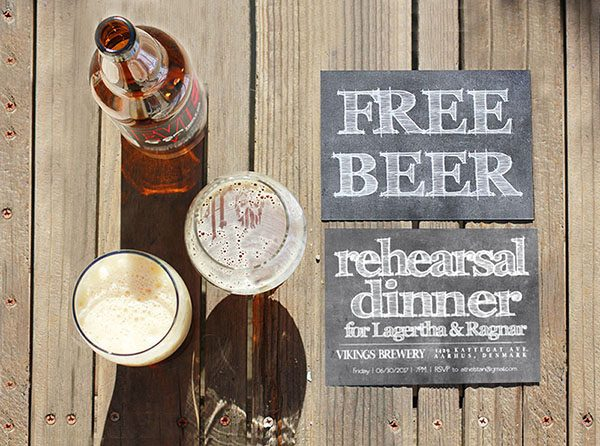 Free Beer Rehearsal Dinner Invitations