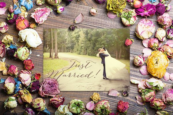 Rustic Chic Wedding Announcements