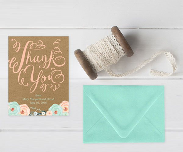 Kraft & Mint Thank You Cards