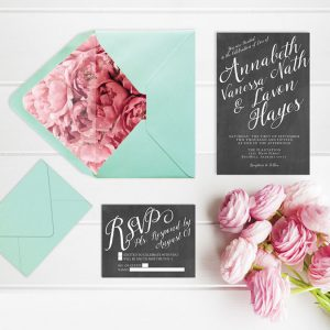 Chalkboard & Calligraphy Wedding Invitations