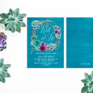 Succulents Wedding Announcements