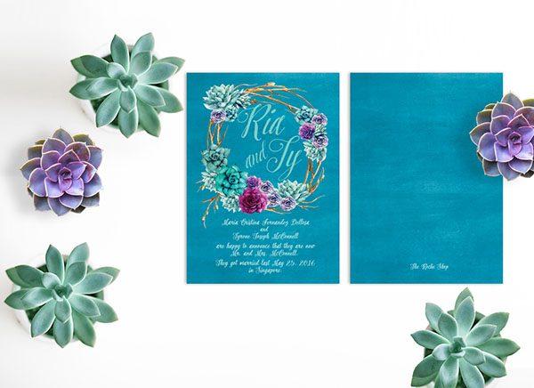 Succulents Wedding Announcements