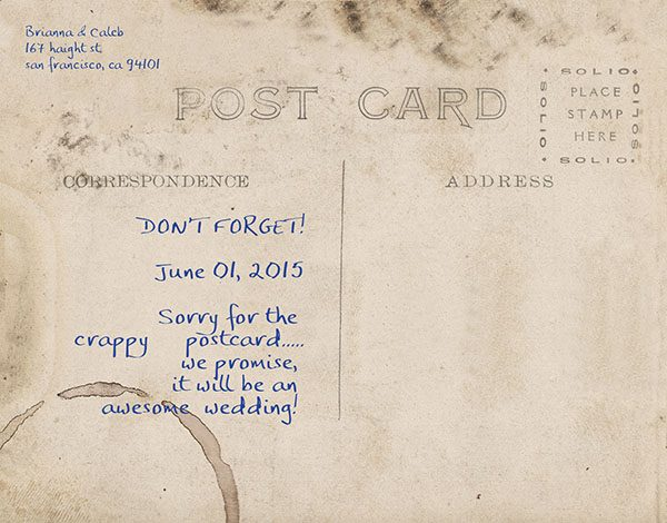Vintage Postcard Save the Date Cards