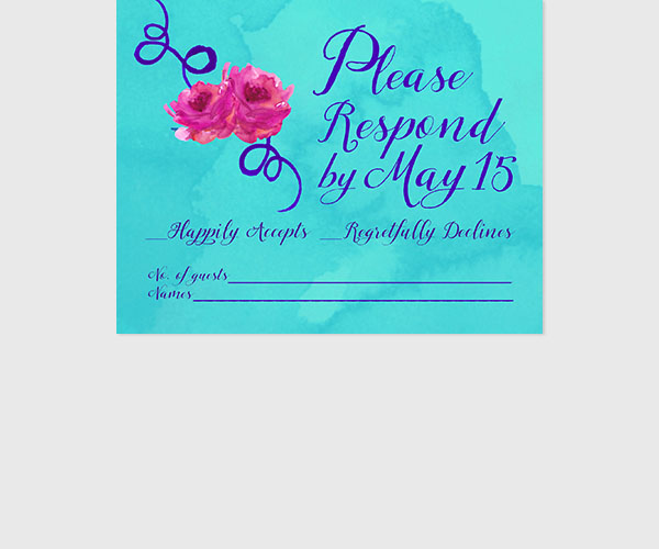 #LoveWins Turquoise RSVP cards