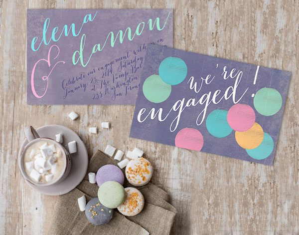 Paper Lanterns Engagement Party Invitations