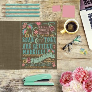 Anthropologie style whimsical save the date cards