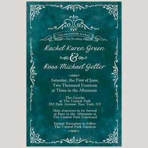 Wedding invitations the roche shop the rachel vintage style scrolls teal wedding invitations filmwisefo