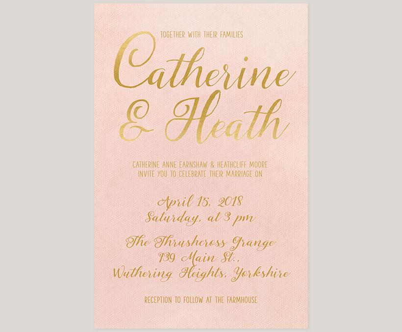 Blush gold watercolor wedding invitations the catherine the blush gold watercolor wedding invitations junglespirit Gallery