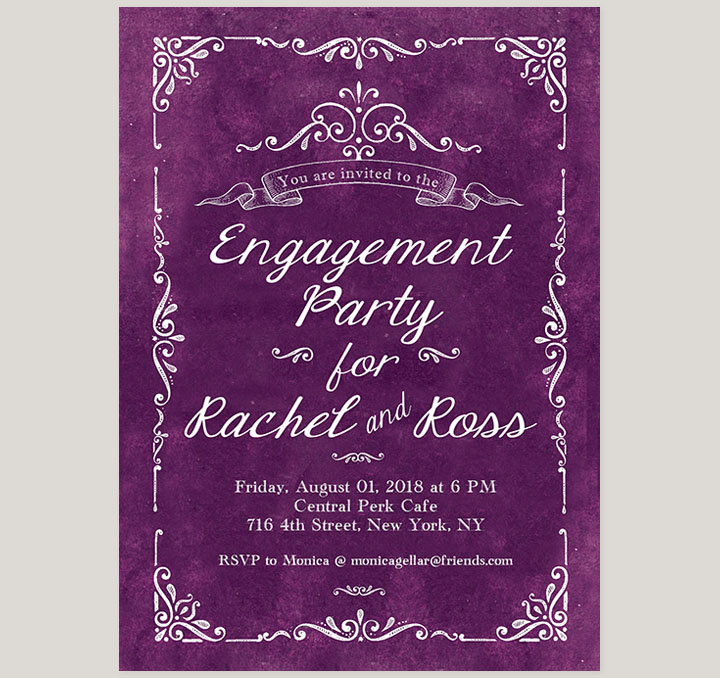 Vintage Engagement Party Invitations Choice Image - invitation ...