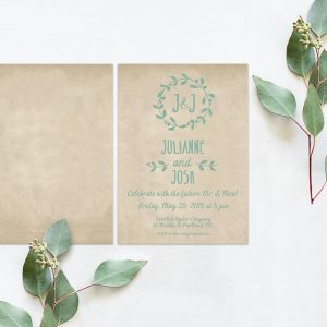 rustic chic & distressed engagement party invitations