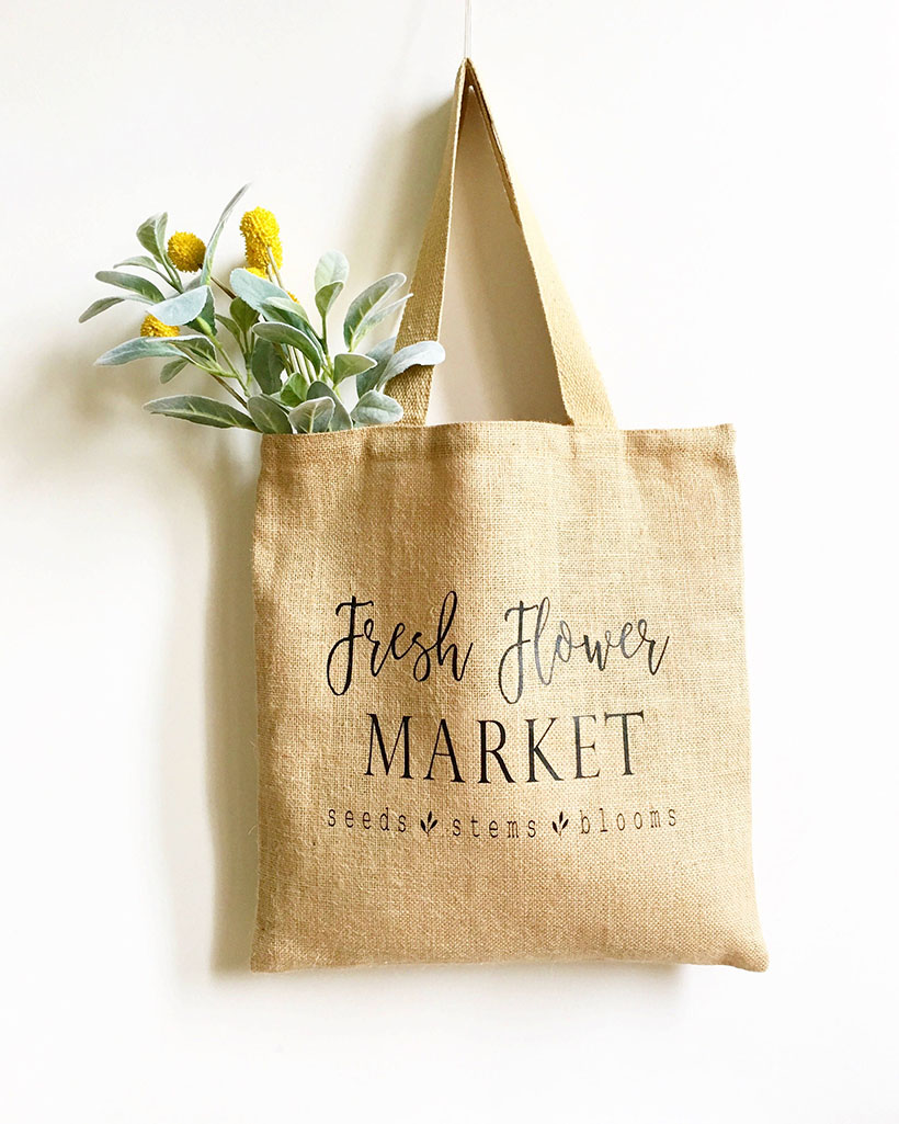 mother's day market tote bag