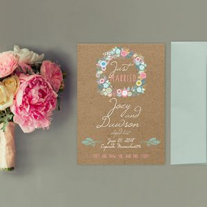 rustic chic kraft wedding cards