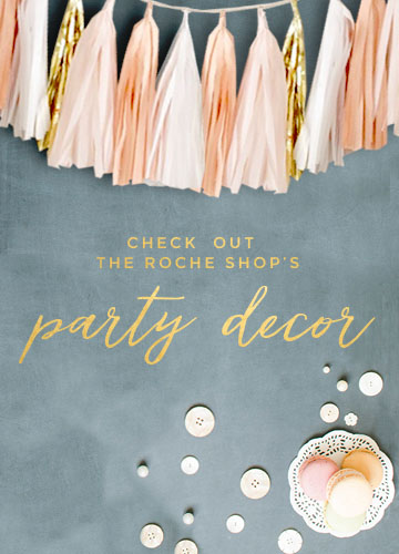 blush and gold party decor
