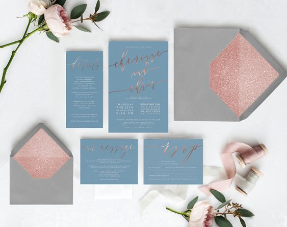 the roche shop wedding invitation suite