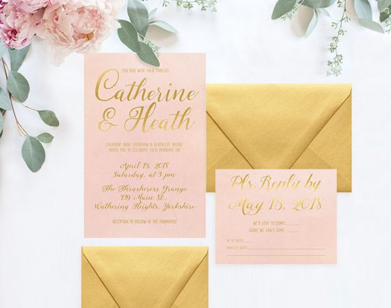 the roche shop wedding invitation set