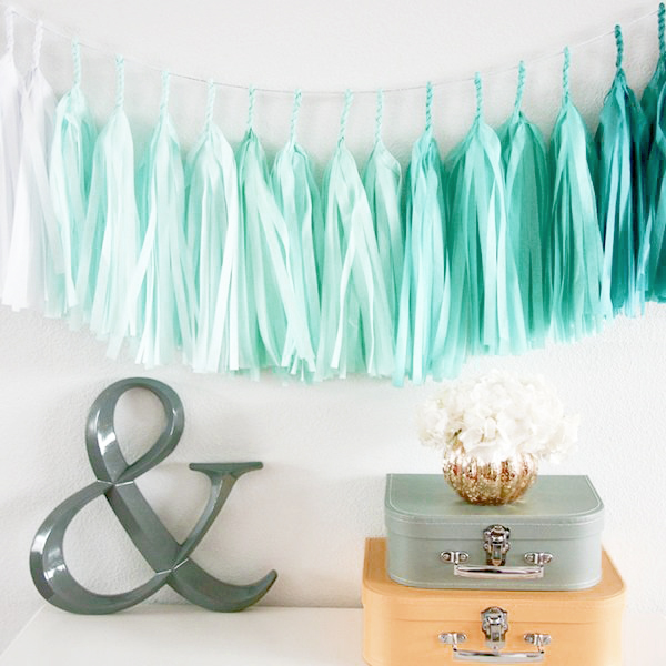 party decorations- tassel garlands