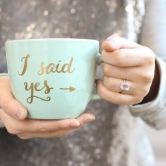 engagement mug - i said yes