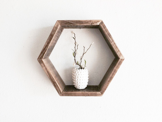 etsy hexagon shelf