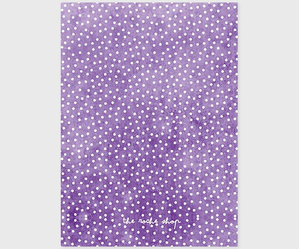 Violet Polka Dot Engagement Party Invitations