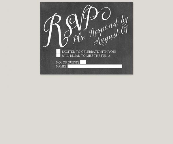 The Wednesday Chalkboard damask wedding invitations