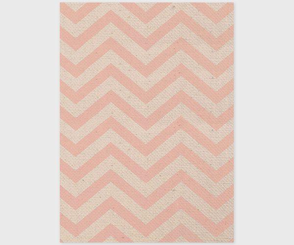 The Julianne - Coral Pink Chevron Burlap Elopement Cards
