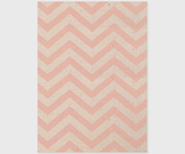 Pink chevron and burlap save the date card