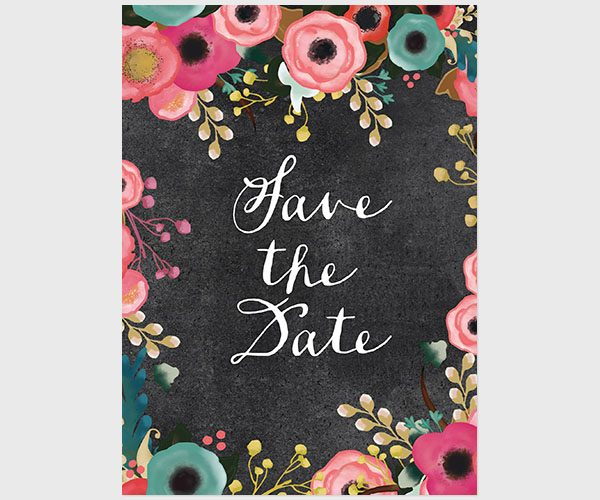 The Phoebe - Save The Date Cards for Spring Weddings
