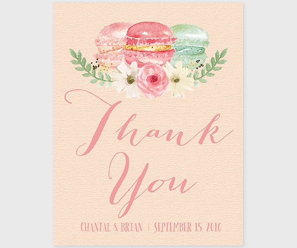 The Chantal- French Macaron Thank You Cards