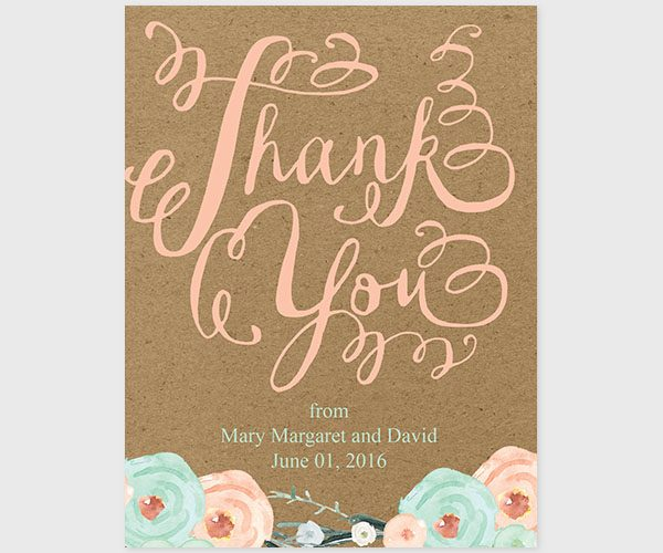 The Mary Margaret – Kraft & Mint Thank You Cards