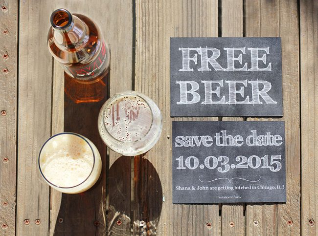 Free Heretic Beer Save The Date Cards