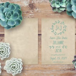 THE JULIANNE - RUSTIC CHIC SAVE THE DATE CARDS