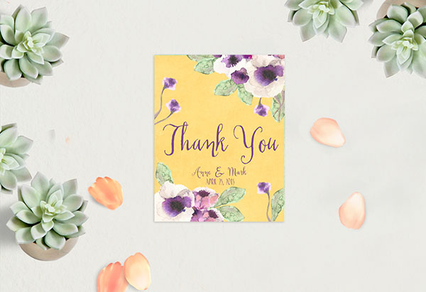 Anemone Thank You Cards