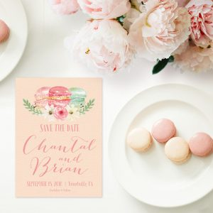 THE CHANTAL - MACARON SAVE THE DATE CARDS