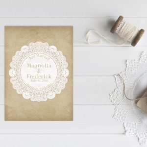 Lace Doily Wedding Announcements